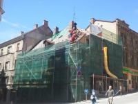 probíhající rekonstrukce domu v plném proudu